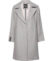 koben wool coat wollen jas lange jas grijs superdry
