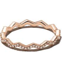 astley clarke varro honeycomb diamond ring - metallic