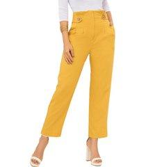 pantalón cynthia amarillo para mujer croydon