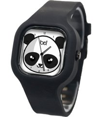 relógio bewatch panda pulseira silicone preto