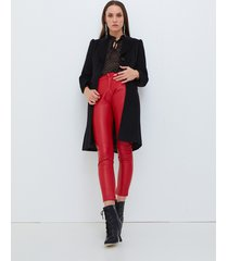 motivi cappotto lungo in panno donna nero