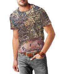 london antique map mens cotton blend t-shirt
