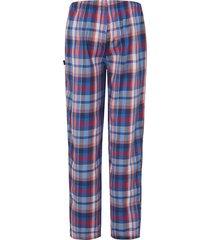 lange pyjamabroek met ruitdessin van jockey blauw
