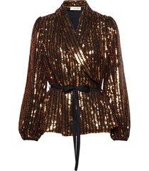 clara jacket blouse lange mouwen goud storm & marie