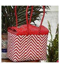 plastic tote, 'vibrant zigzags' (mexico)