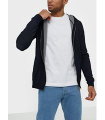 premium by jack & jones jprblamesh knit cardigan tröjor mörk blå