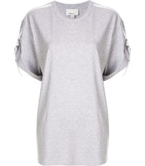 3.1 phillip lim oversized t-shirt with tabs - grey