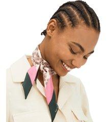kate spade new york flower stripe skinny silk scarf