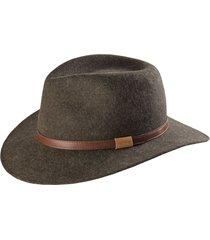 heathered-felt hat, brown, 2xl