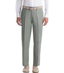 lauren by ralph lauren men's classic fit linen suit separates pants sage - size: 40w x 30l