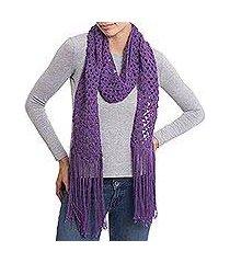 100% alpaca scarf, 'royal crochet' (peru)