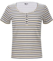 camiseta rayas con pechera color amarillo, talla 16