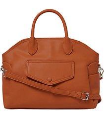 dangerous love faux leather satchel