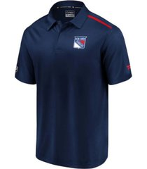 authentic nhl apparel new york rangers men's authentic pro rinkside polo