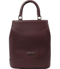 bolsa mochila de couro recuo fashion bag vinho