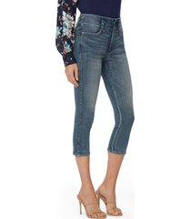 women's nydj ami cool embrace capri jeans, size 18 - blue