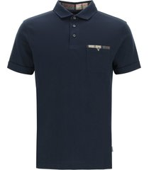 barbour corpatch cotton polo shirt