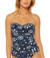 bleu by rod beattie take a dip bandeau tankini top women's swimsuit