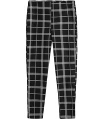 pantalón cigarrette a cuadros color negro, talla 10
