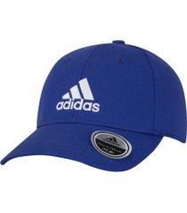 boné aba curva adidas baseball cotton twill - strapback - adulto - azul/branco