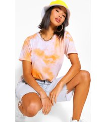 tie dye t shirt, orange