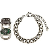 dsquared2 oversized curb chain bracelet - silver