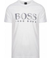 hugo boss t-shirt logo bedrukking - wit