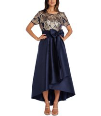 r & m richards petite embellished fit & flare gown