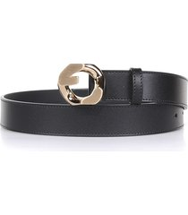givenchy belt in black leather