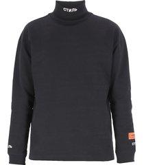 heron preston logo sweatshirt
