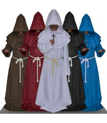 friar medieval hooded monk renaissance priest robe costume cosplay cloak cape