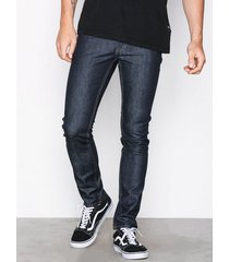 cheap monday tight blue dry jeans blå