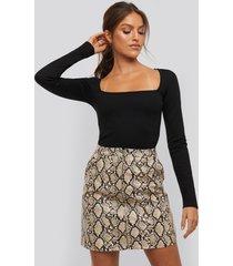 xle the label taylor zipper skirt - multicolor