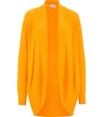 cardigan aperto in filato fine (giallo) - bpc bonprix collection