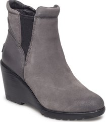 after hours chelsea shoes boots ankle boots ankle boot - heel grå sorel