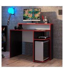 mesa gamer power art in móveis 100cm preta