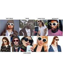 kurt cobain white black red alien shades sunglasses nirvana thick frame glasses
