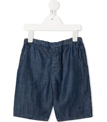 violeta e federico boris cotton shorts - blue