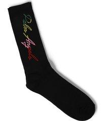 miami logo socks, black