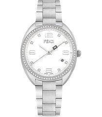 momento stainless steel & diamond bracelet watch