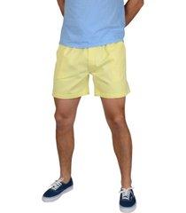 men's elastic waist pull-on shorts