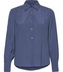 cdc stretch - may blouse lange mouwen blauw sand