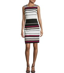 ottoman stripe sheath dress