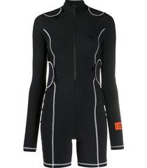 heron preston active touch strap jumpsuit - black