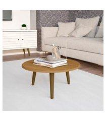 mesa de centro móveis bechara brilhante redonda cinomomo
