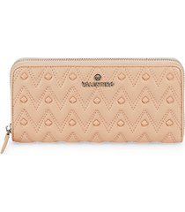 leonardo rockstud chevron leather continental wallet