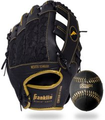 "franklin sports mesh teeball glove and ball set - 9.5"" - lefty thrower"