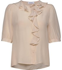 xilla silk blouses short-sleeved roze rodebjer