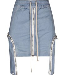 drkshdw multi-zipped mini skirt