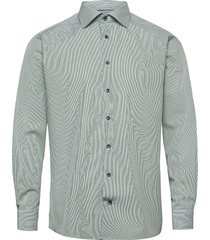 contemporary fit cotton shirt overhemd business groen eton